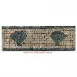 "Harbor (green), Honed Mosaic Tile Listello 4"" x 12"""